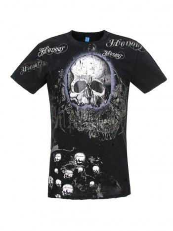 "Amplified Herren Shirt ""Honour Skull"" in schwarz"