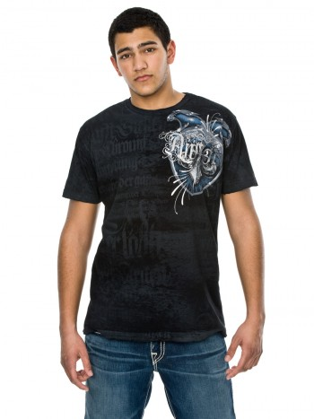 "Affliction Herren Shirt ""Creston"" in schwarz"