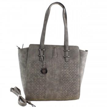 Damen Tasche Handtasche aus Kunstleder in Coffee Braun