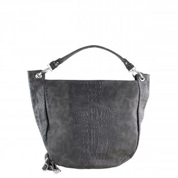 Damen Tasche Shopper aus Kunstleder in black schwarz