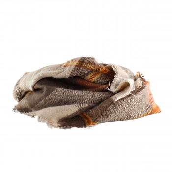 Schal Vintage Grafische Muster Braun, Beige