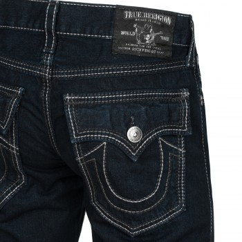 True Religion Herren Jeans Ricky Big QT Indigo Grey in NBD Penny Royal