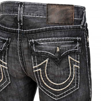 True Religion Herren Jeans Ricky Super T Grey Black in AOND Wolf Point
