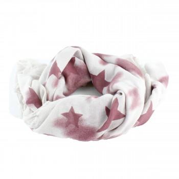 Schal Vintage Sterne Rot, Beige