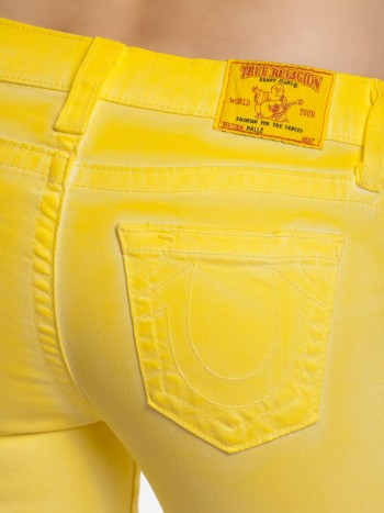 True Religion Damen Jeans Halle Super Skinny in Pineapple