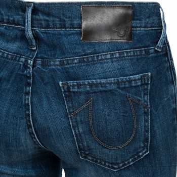 True Religion Damen Jeans Abbey Super Skinny in EM13 MID Dark Blue/ blau