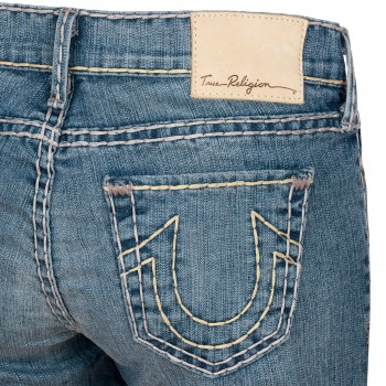 True Religion Damen Jeans Linda 7/8-Hose Skinny Crop in BGSL Bracksh WTR