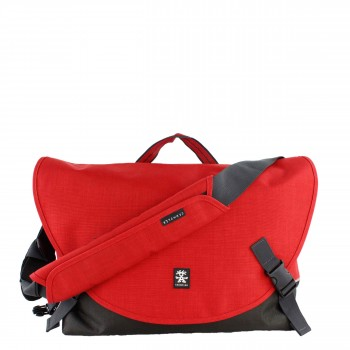 "Crumpler Tasche Umhängetasche ""Head Office Laptop L"" Proper Roady Laptop in rot/ schwarz"