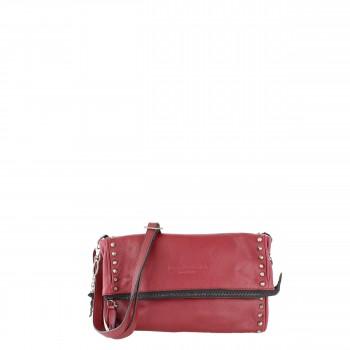 Frieda & Freddies New York Tasche Clutch mit Nieten 54238 in rot