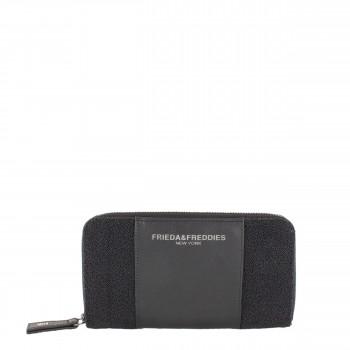 Frieda & Freddies New York Geldbörse mit kleinen Perlen aus Leder 54227 in schwarz