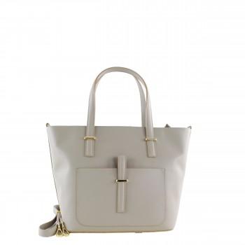 Damen Tasche Handtasche aus Leder in beige