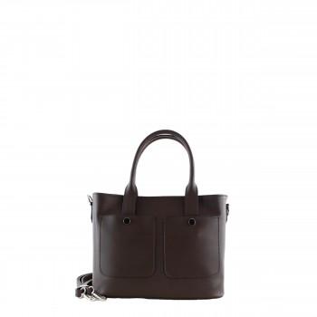Damen Tasche Handtasche aus Leder in brown braun