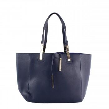 Damen Tasche Handtasche aus Kunstleder in blue blau