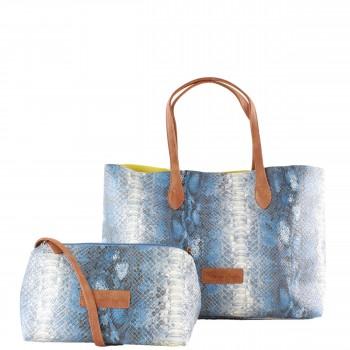 Fritzi aus Preußen Damen Tasche Joerdis in Snake Azul