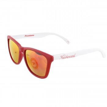 Knockaround Sonnenbrille Premiums zweifarbig Rot Weiß verspiegelt