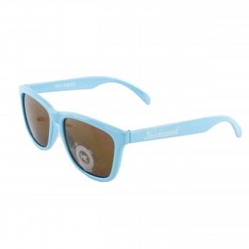 Knockaround Sonnenbrille Classic Premiums Amber Bio-Based Cornflower Blue Baby Blau