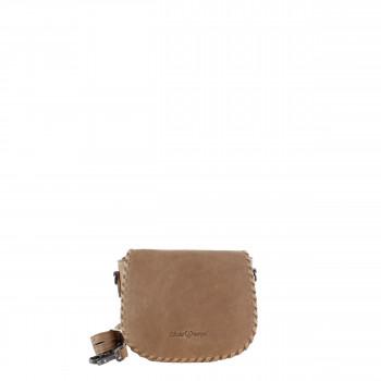 Schuhtzengel Tasche Auguste Vintage Leder 65251 in Macadamia