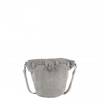 Schuhtzengel Tasche Bobbi Nubuk Leder 65140 in Light Grey