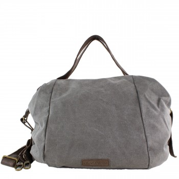 Schuhtzengel Tasche Carley Canvas/Leder 65137 in Grau