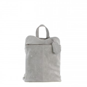 Schuhtzengel Rucksack/ Tasche Chlothilde in Vintage Leder 65148 in Stone Grey