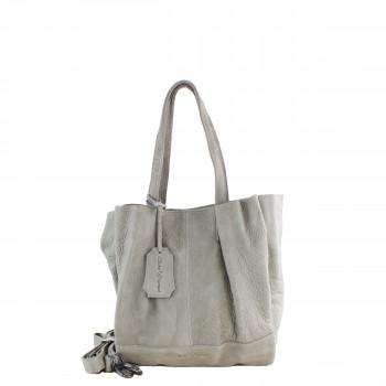 Schuhtzengel Tasche Elin in Vintage Leder 65252 in Stone Grey