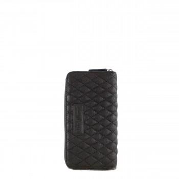 Schuhtzengel Geldbörse Fiona Vintage Leder in Schwarz