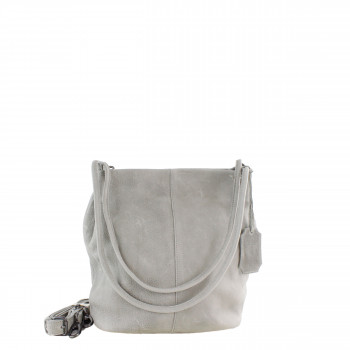 Schuhtzengel Damen Tasche Juna Vintage Leder in Stone Grey