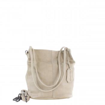 Schuhtzengel Damen Tasche Juna Vintage Leder in Taupe