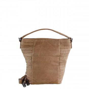Schuhtzengel Tasche Linnea Vintage Leder 65255 in Macadamia