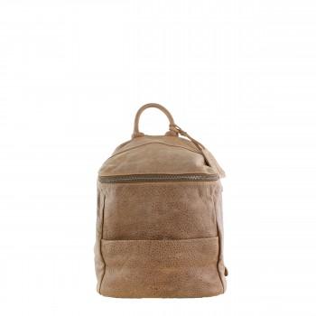Schuhtzengel Rucksack/ Tasche Marlies in Vintage Leder 65138 in Macadamia