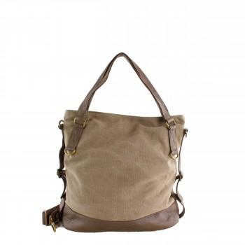 Schuhtzengel Tasche Minna in Leder Canvas 64170 in Dust