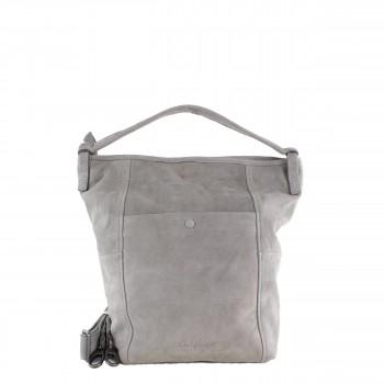 Schuhtzengel Tasche Rosalia in Nubuk Leder 65145 in Light Grey