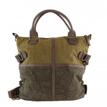 Schuhtzengel Tasche Jessie in Leder Canvas 63961 in Cracked Brown