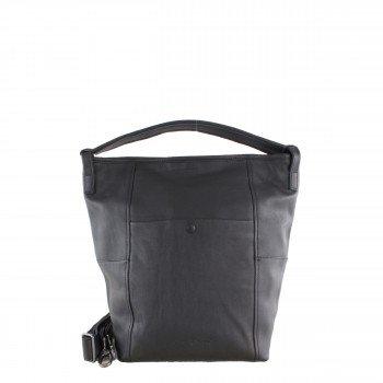 Schuhtzengel Tasche Rosalia in Vintage Leder 65145 in Schwarz