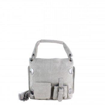 Schuhtzengel Tasche Torina Mini in Vintage Leder 64862 in stone grey