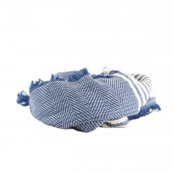 Schal Vintage Grafische Muster Blau, Weiss