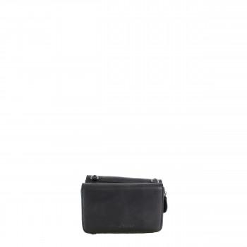 Schuhtzengel Tasche Celina Vintage Leder 65240 in Schwarz