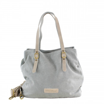 Schuhtzengel Tasche Summer in Leder Canvas 64426 in Light Denim